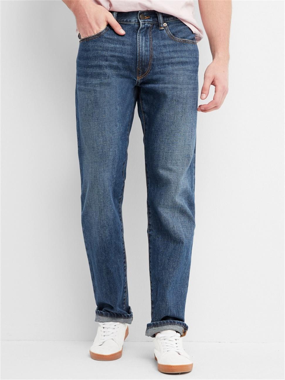 男裝 基本款簡約風格直筒牛仔褲