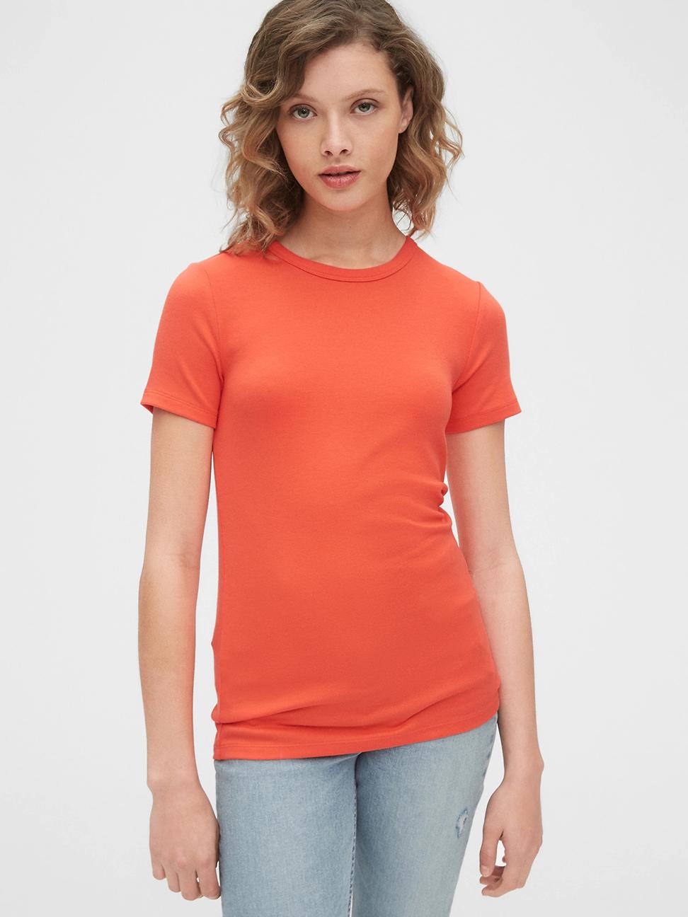 女裝 棉質舒適圓領短袖T恤