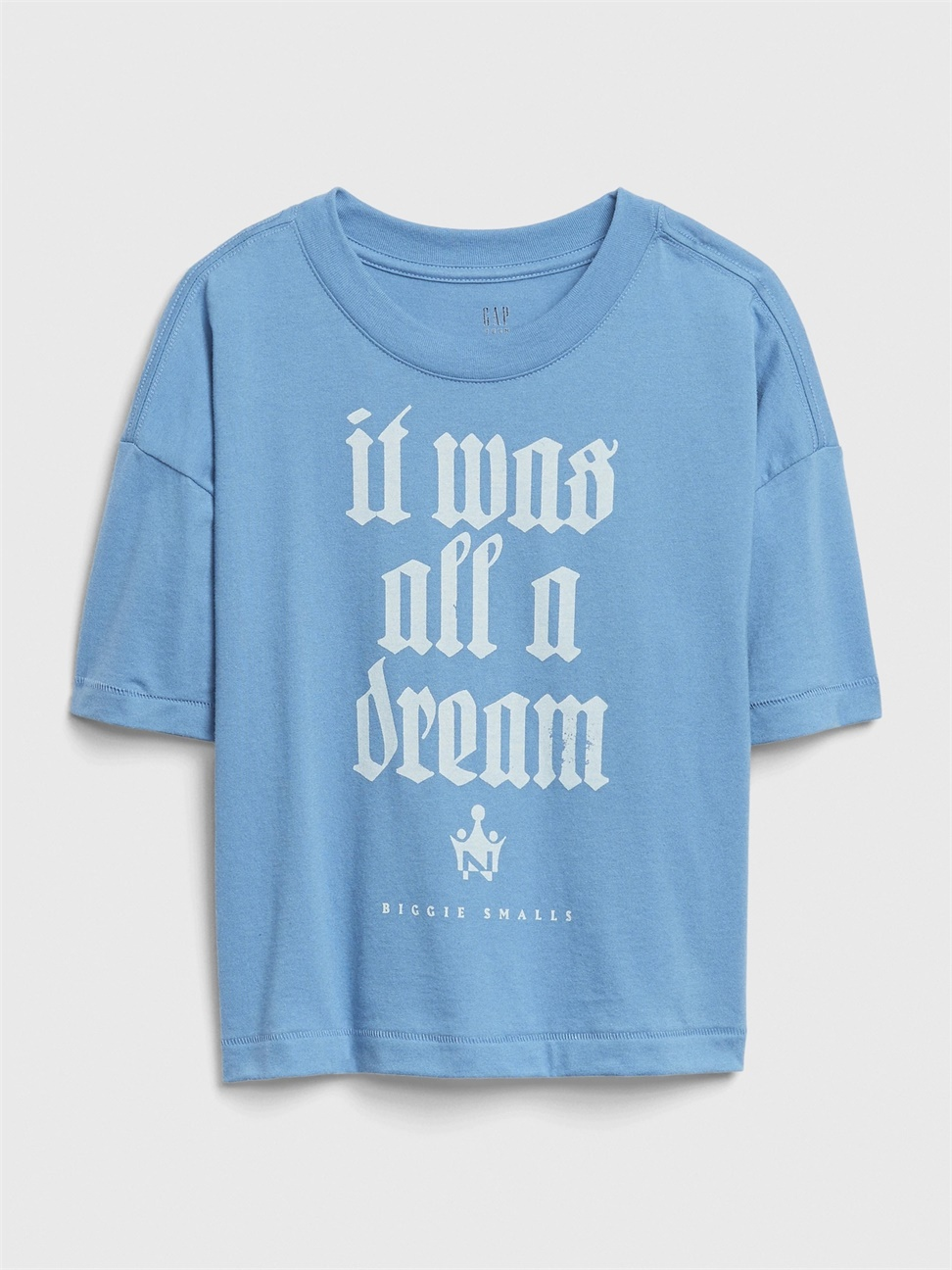 女童 創意印花圓領短袖T恤