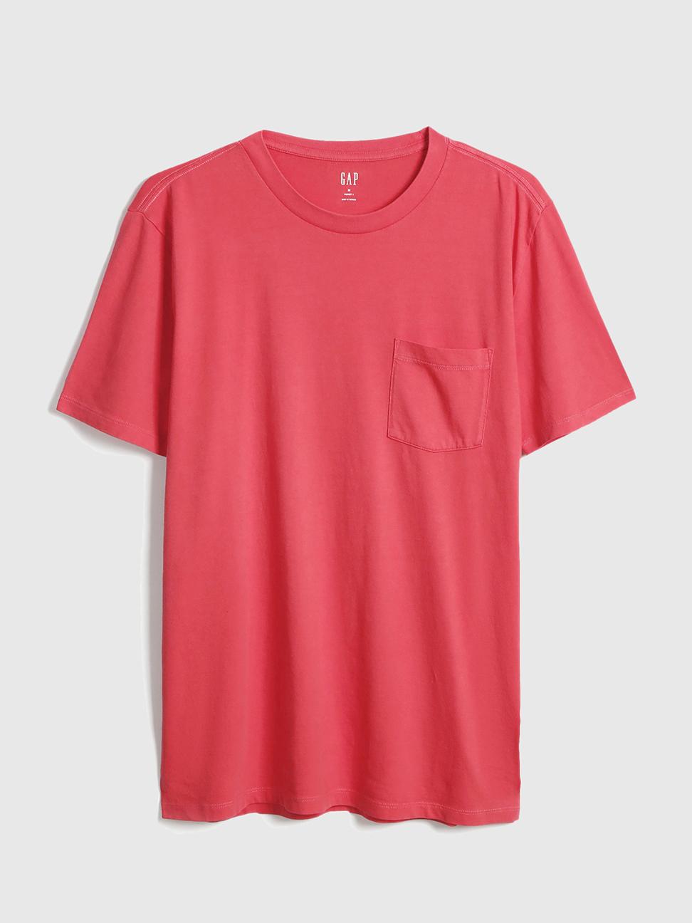 男裝 復古水洗圓領短袖T恤