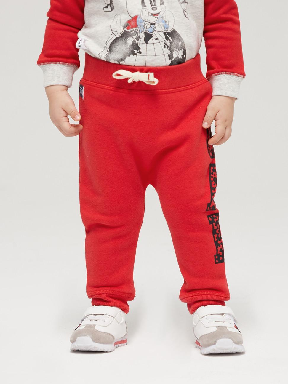 嬰兒 碳素軟磨系列 Logo創意鬆緊長褲