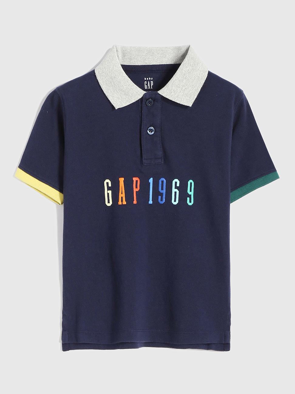 幼童 Logo純棉短袖POLO衫