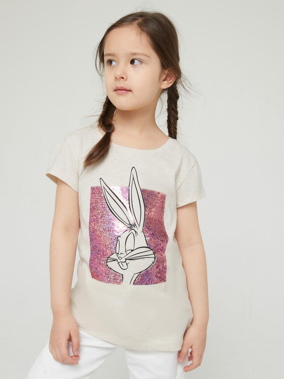 女童 Gap x Warner Bros合作系列雙面亮片短袖T恤