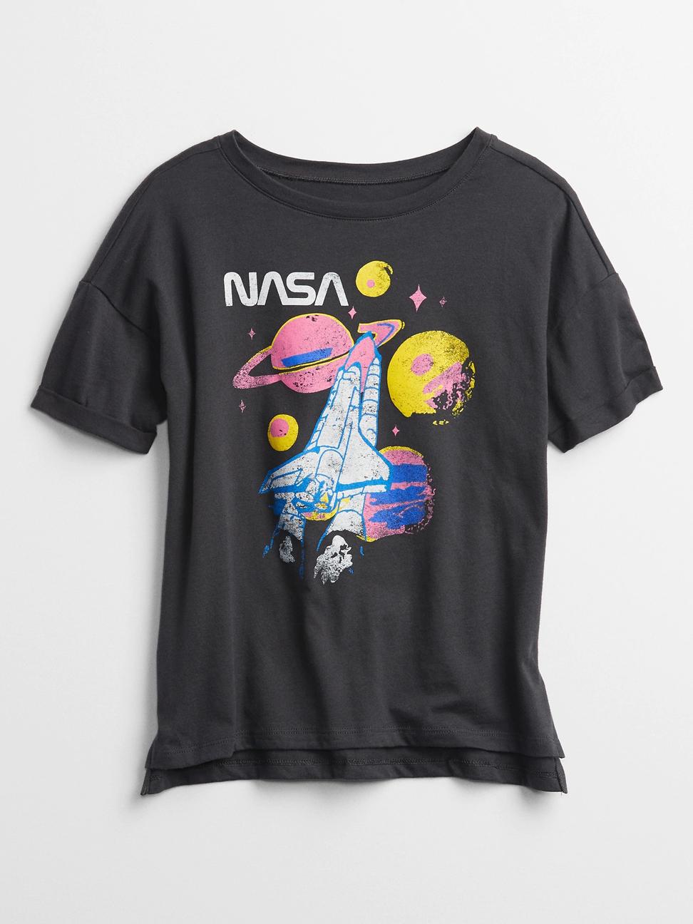 女童 Gap x NASA系列印花短袖T恤