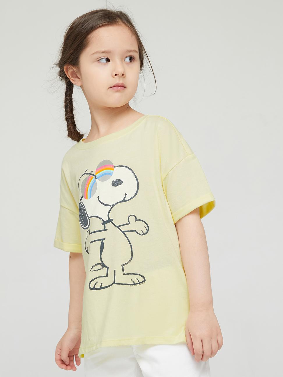 女童 Gap x Snoopy 史努比系列純棉印花短袖T恤