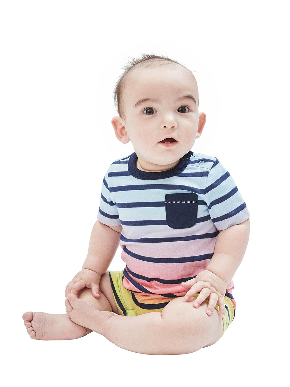 嬰兒 時尚純棉短袖包屁衣
