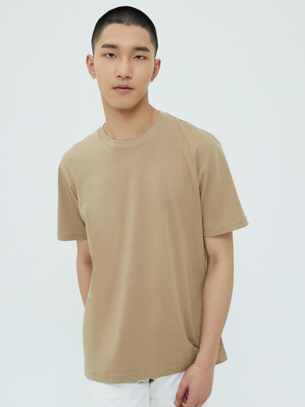 男裝 純棉舒適圓領短袖T恤