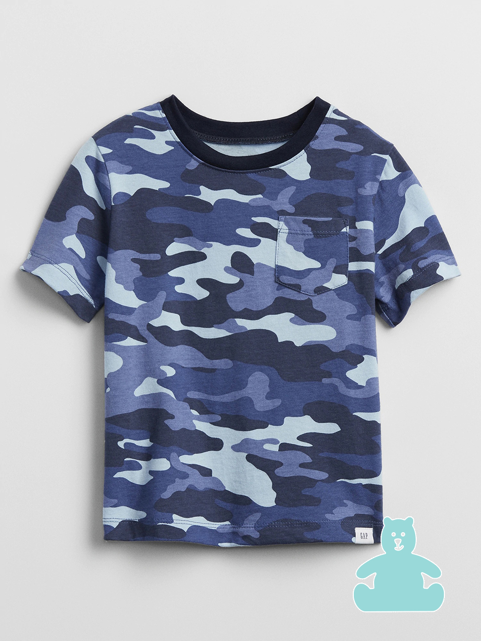 幼童 布萊納系列 時尚迷彩口袋圓領T恤