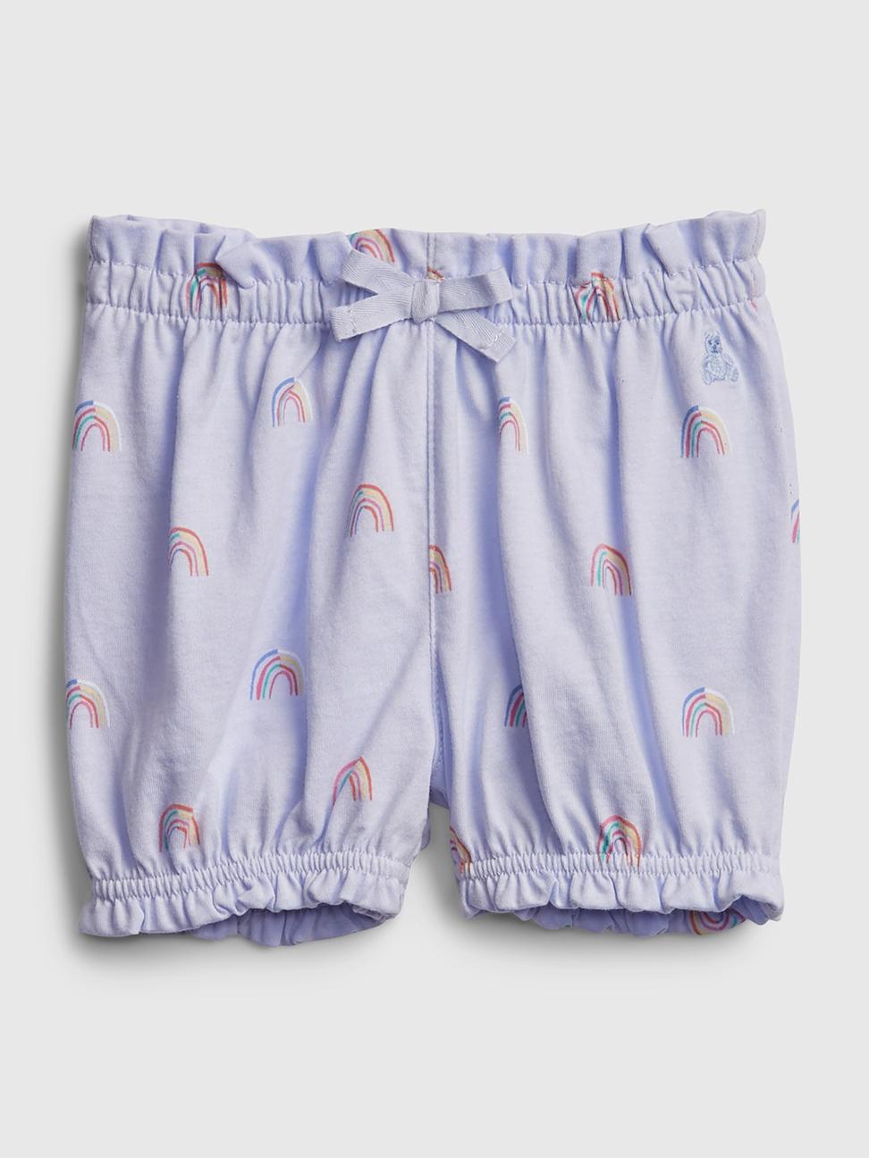 嬰兒 布萊納系列甜美印花純棉鬆緊短褲