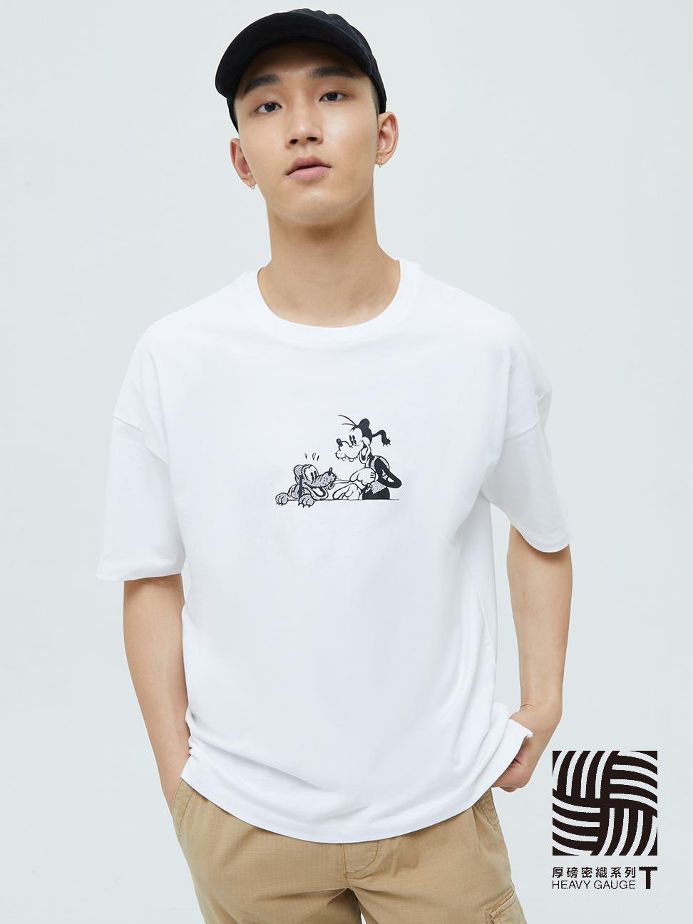 男裝 厚磅密織系列 Gap x Disney 迪士尼系列寬鬆短袖T恤