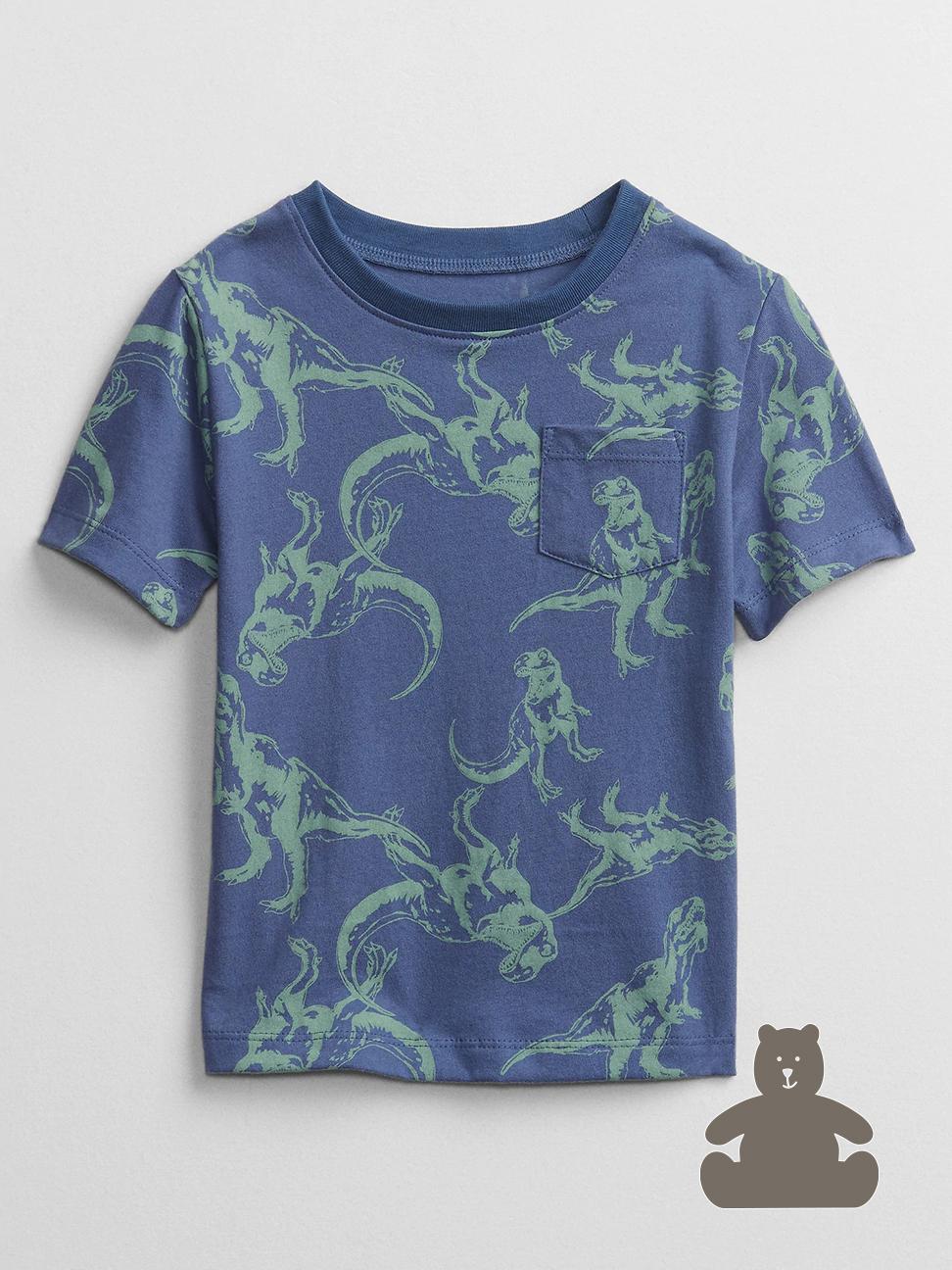 幼童 布萊納系列 童趣印花圓領短袖T恤