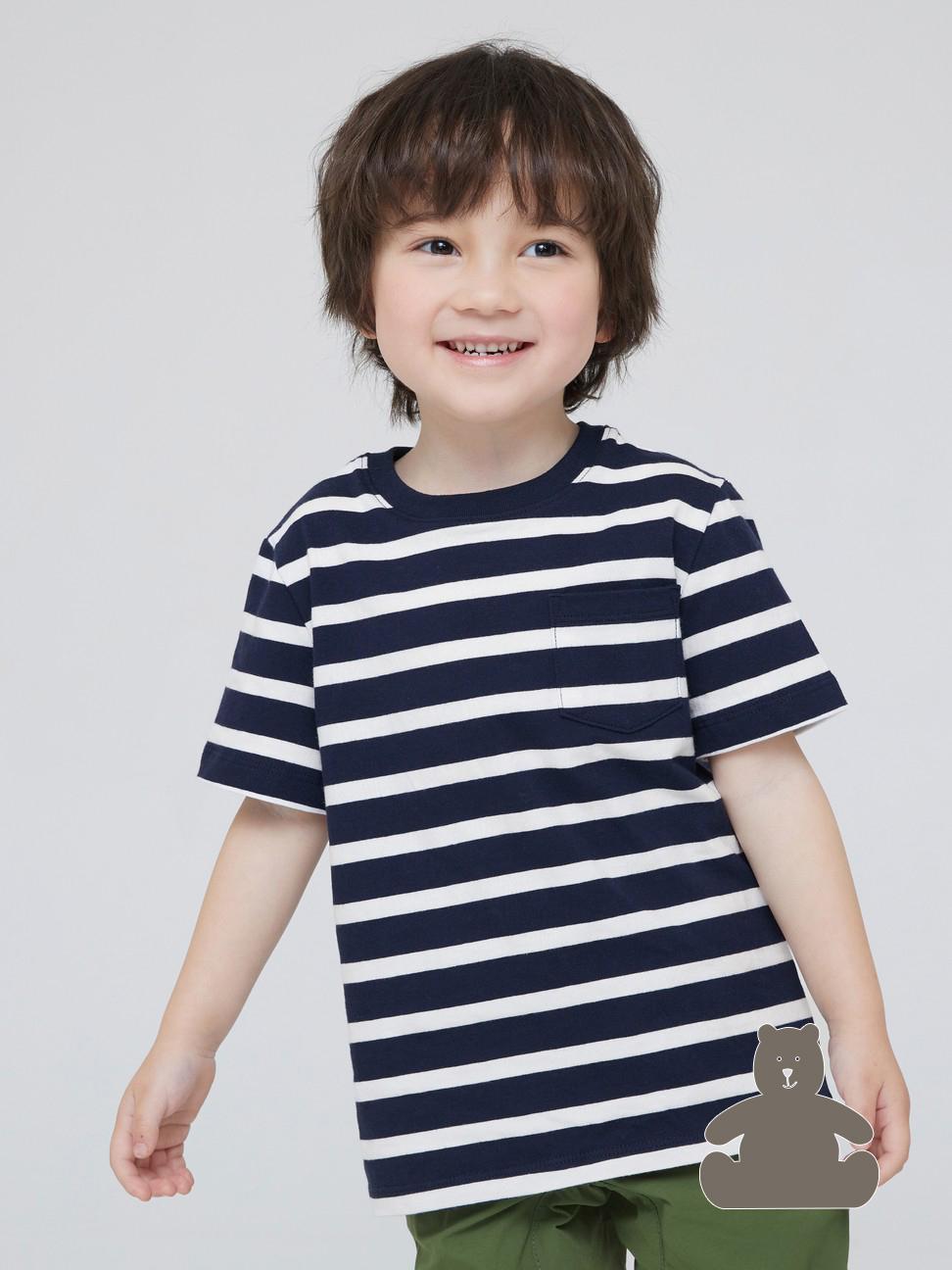 幼童 布萊納系列 純棉條紋圓領短袖T恤