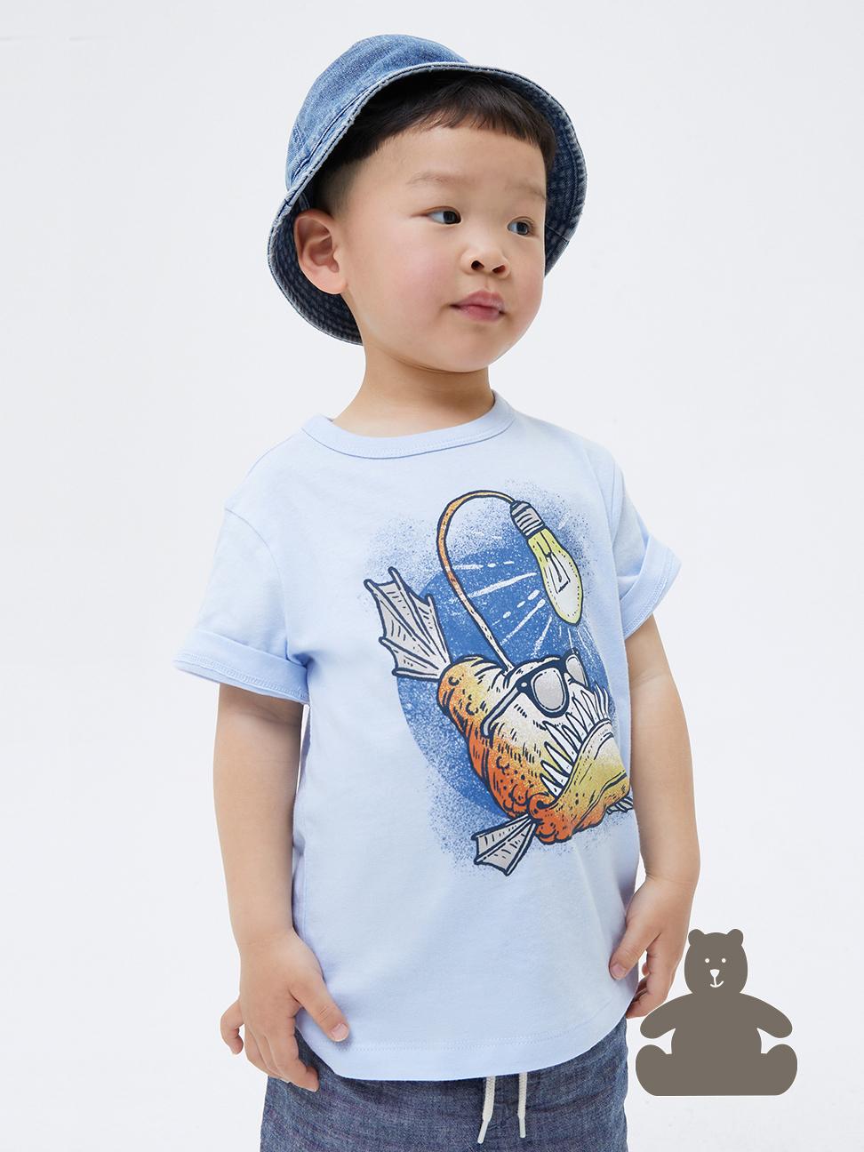 幼童 布萊納系列 可愛純棉印花短袖T恤