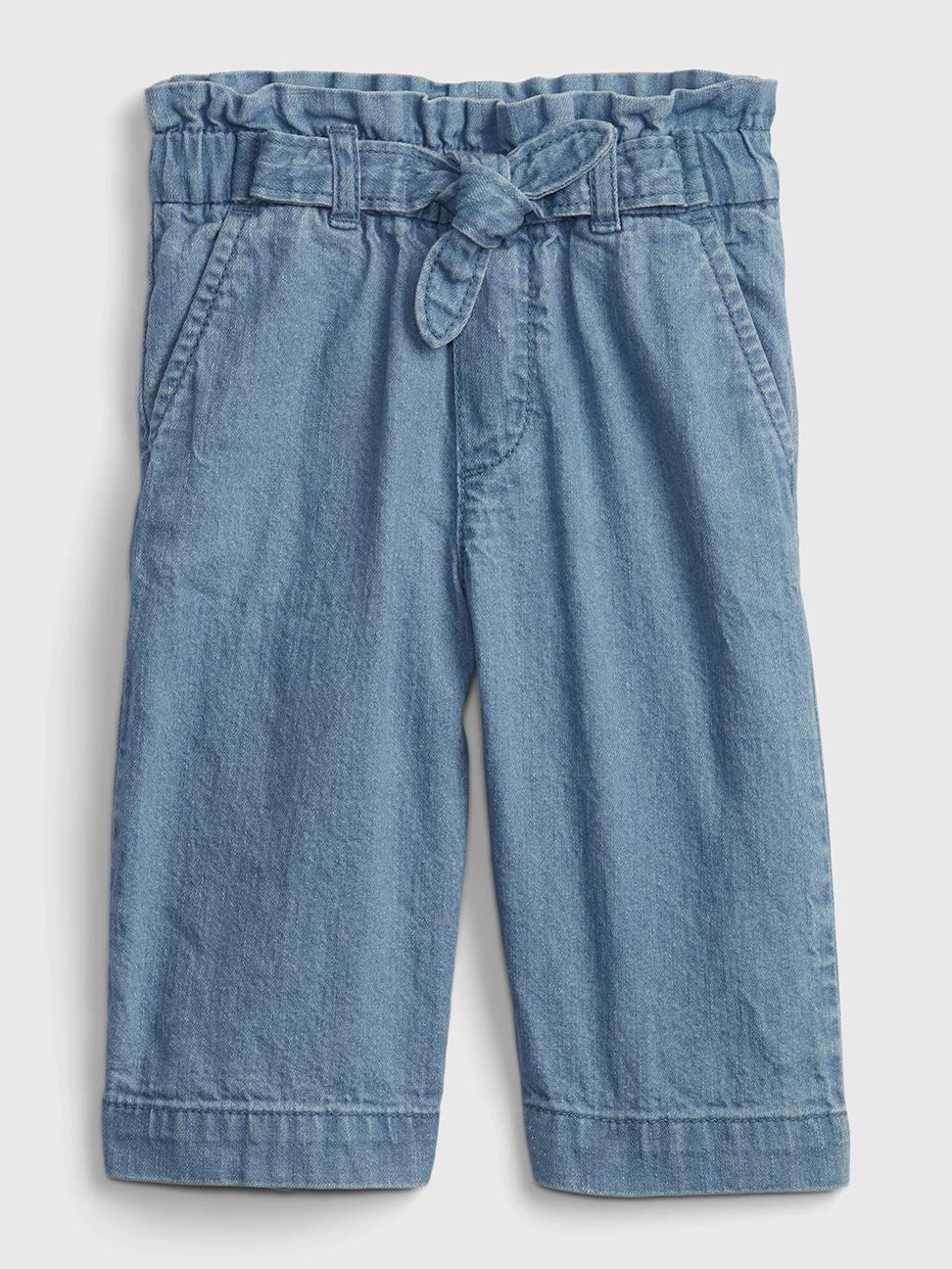 幼童 輕薄蝴蝶結寬管短褲